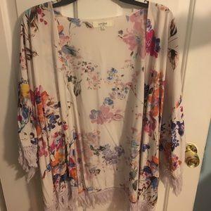 Flowered kimono